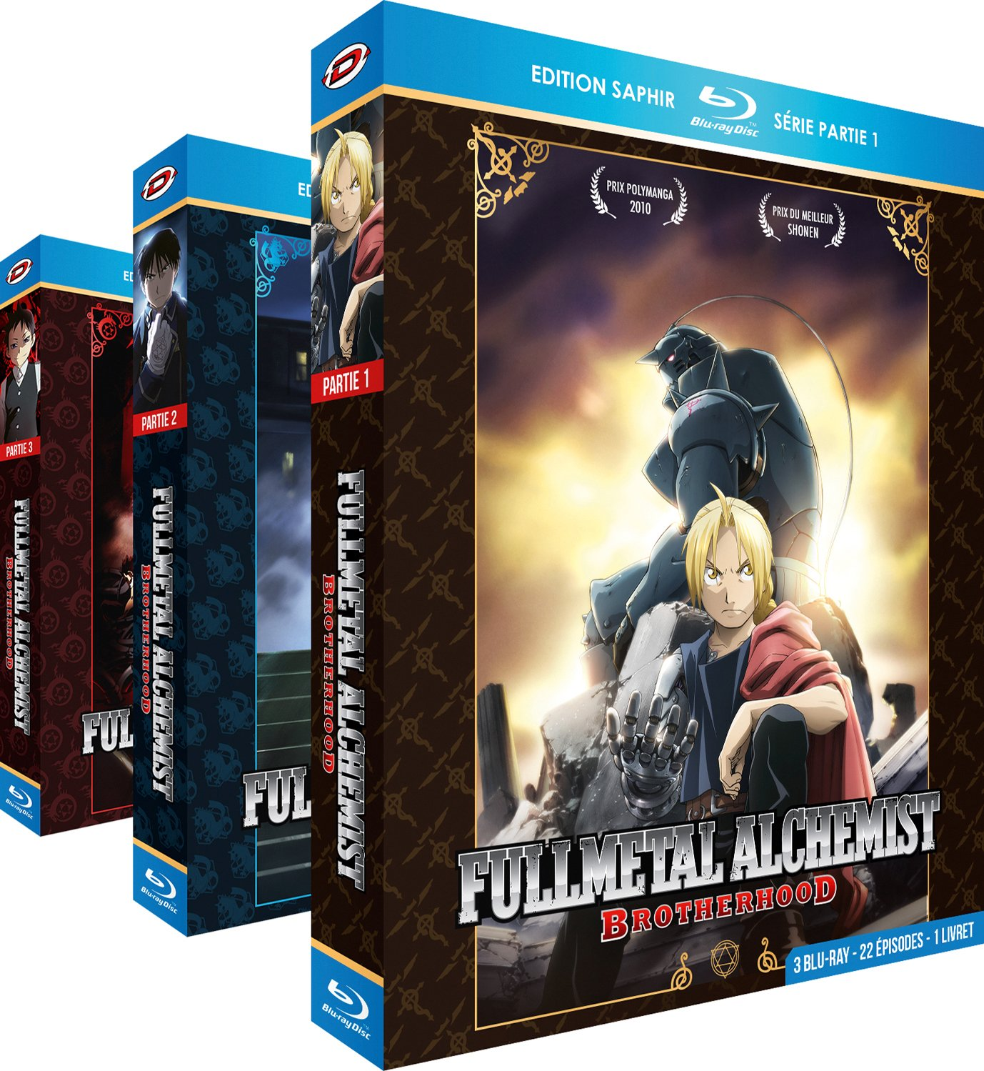 Fullmetal Alchemist: Brotherhood - Intégrale + OAVs - Edition Saphir - 9 Blu-ray + Livrets Francia Blu-ray: Amazon.es: Hiromu Arakawa, Yasuhiro Irie, Bones: Cine y Series TV