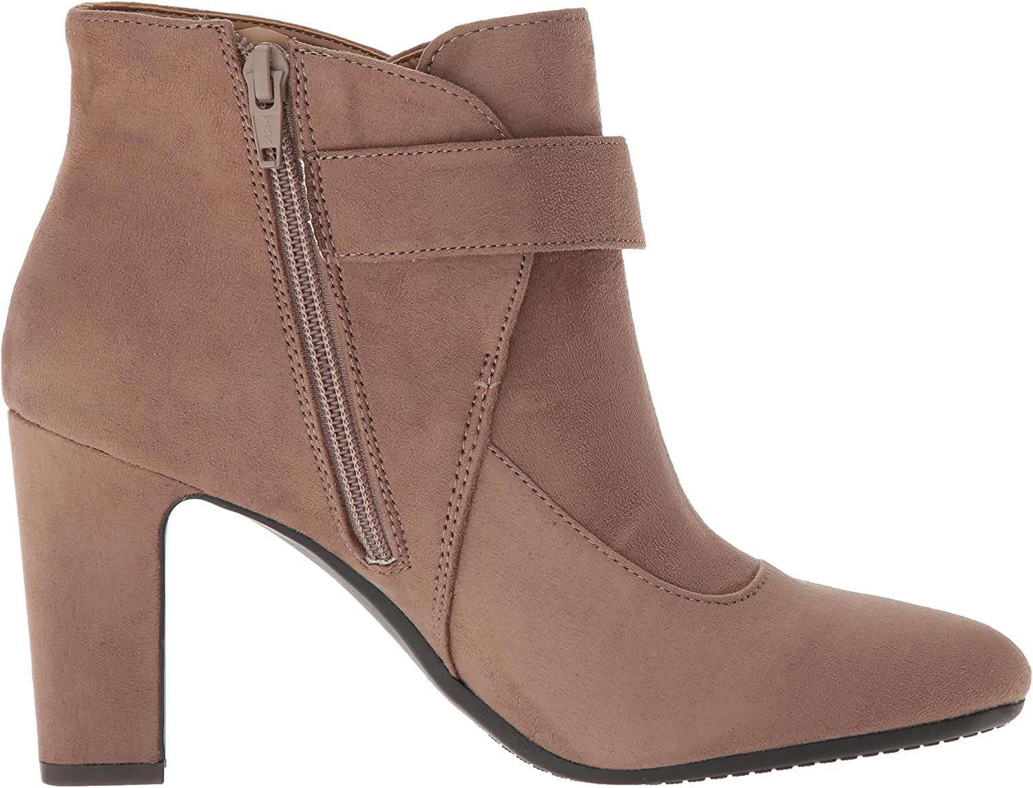 Aerosoles Women's Tag Team Ankle Boot Taupe Fabric Suede
