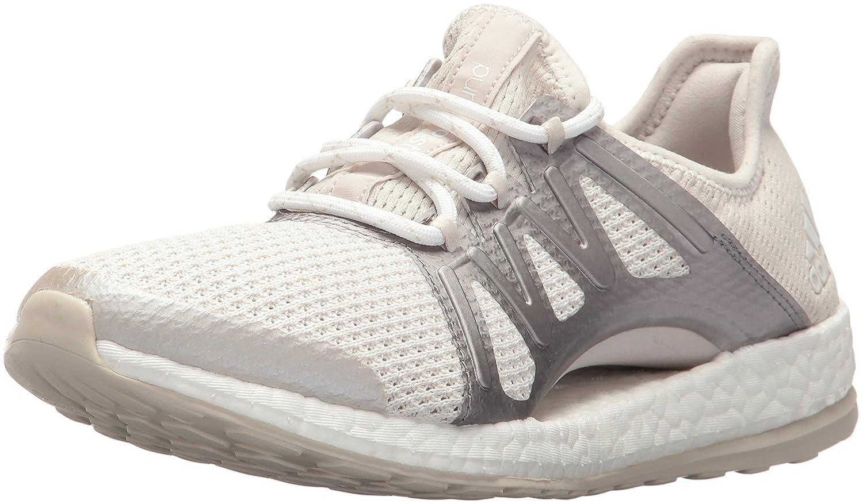 adidas Women's Pureboost Xpose B01MROSH0M 11.5 B(M) US|Crystal White/Metallic Silver/Clear Brown