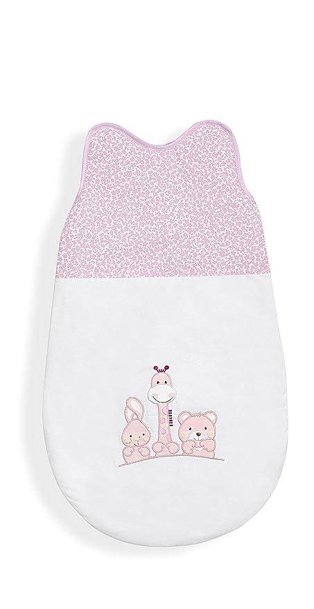 Interbaby – Saco de dormir, 70 cm, diseño de animales, color rosa