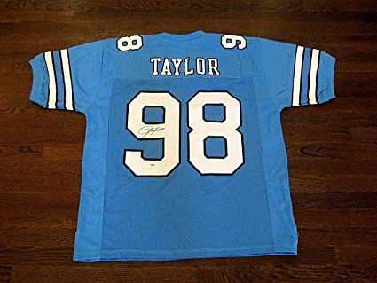 4d3d47ea333b Image Unavailable. Image not available for. Color  Lawrence Taylor Lt North  Carolina Tar Heels Autographed Signed Jersey Memorabilia ...