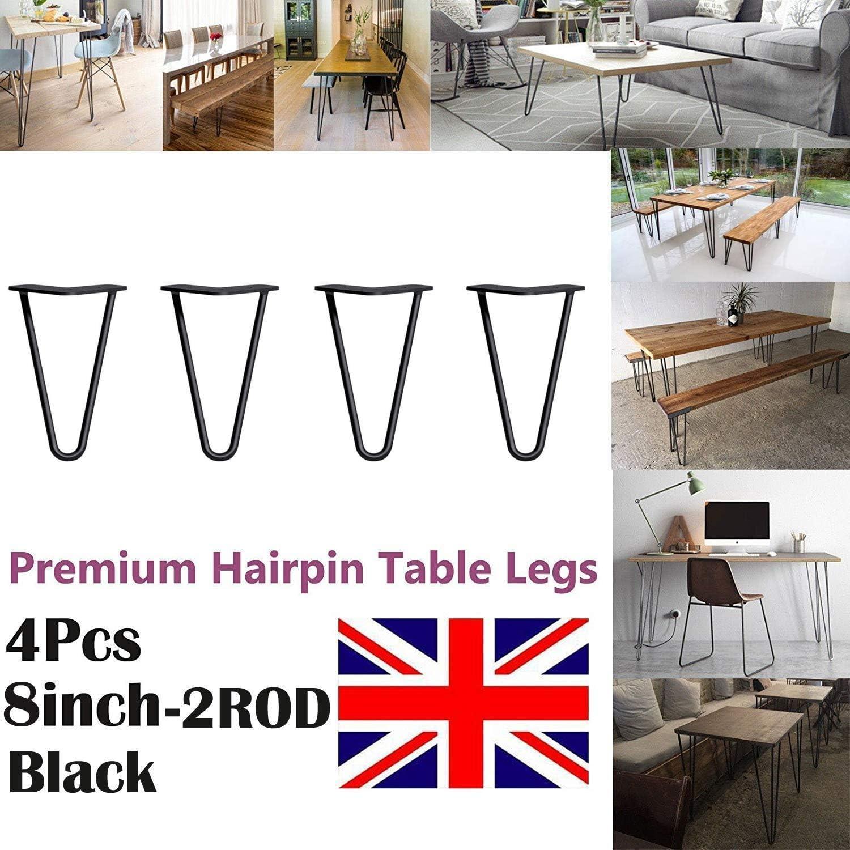 4pcs Premium Hairpin Table Legs Feet Desk Leg Free Screws Guide AND Protector