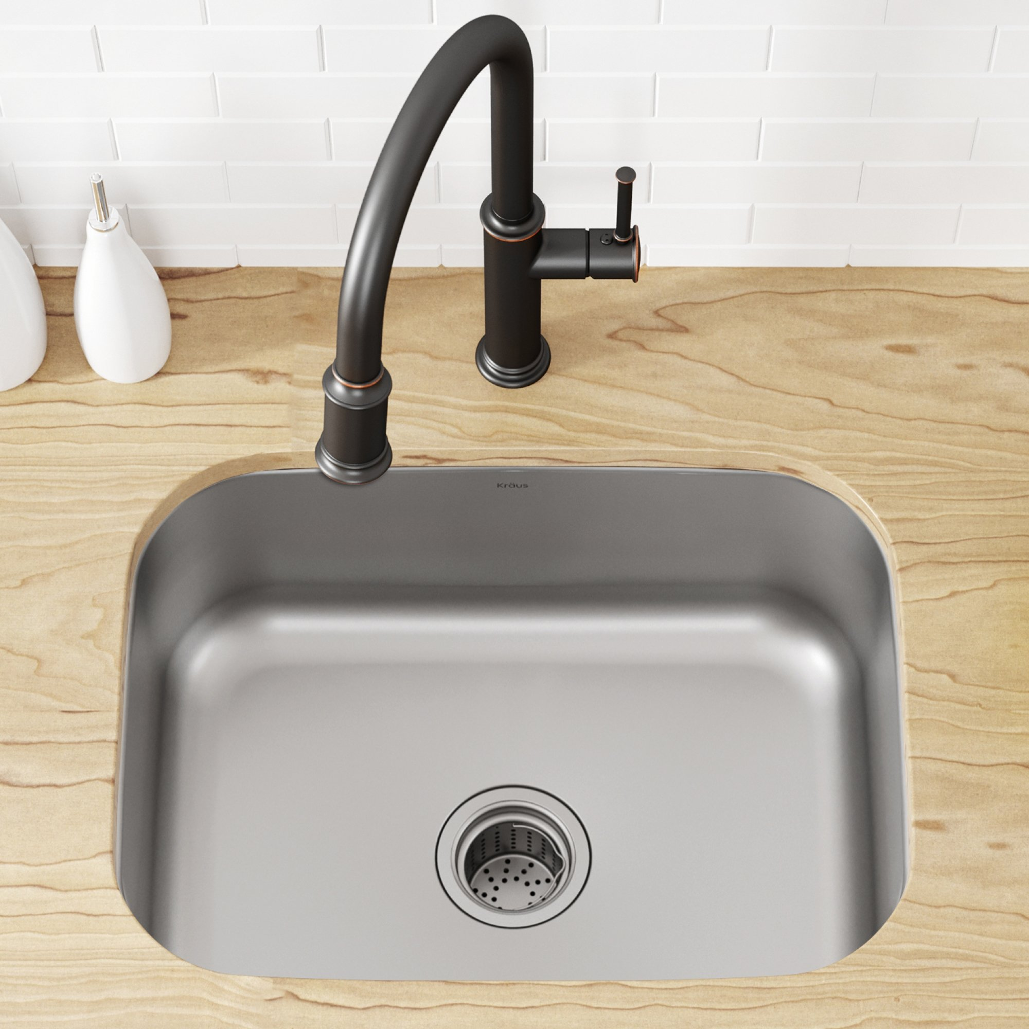 Kraus KBU12 23 inch Undermount Single Bowl 16 gauge Stainless Steel Kitchen Sink by Kraus (Image #5)