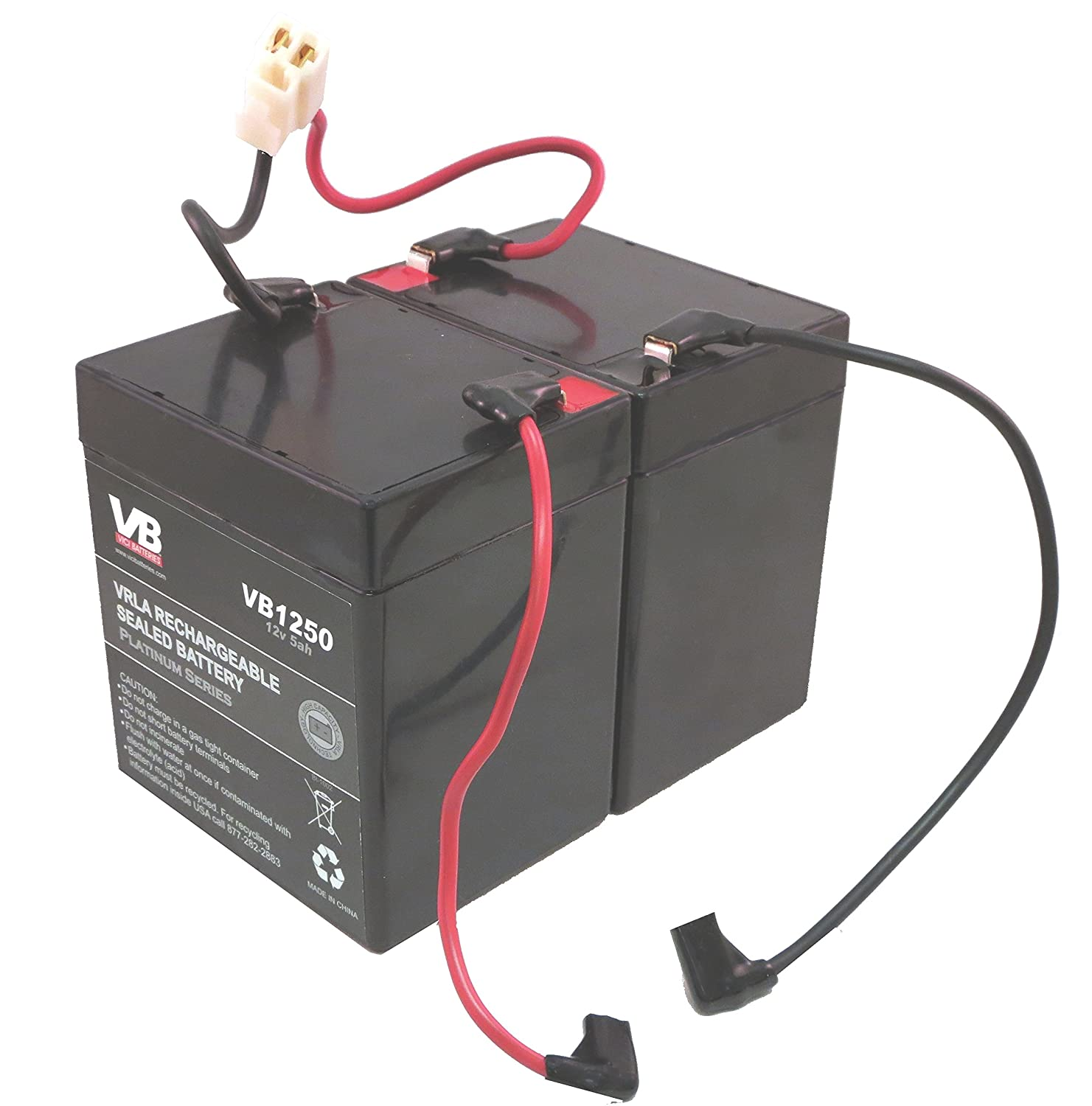 Razor E100 Scooter Batteries 5ah With Wire Harness By Wiring Ends Vici Battery Sports Outdoors