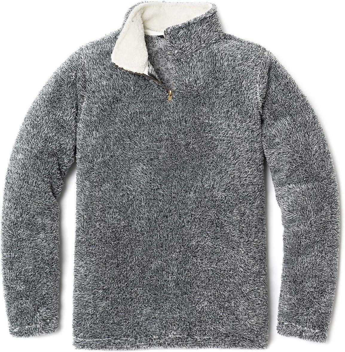 TSLA Womens Pullover Thermal Active Polar Fleece Sherpa Jacket