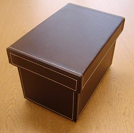 SET OF SIX FAUX LEATHER BROWN CD/DVD STORAGE BOXES & SET OF SIX FAUX LEATHER BROWN CD/DVD STORAGE BOXES: Amazon.co.uk ...
