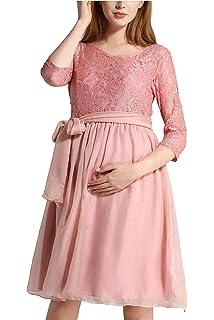 Dance Fairy Umstandskleidung Damen Kleid Spitze-Design 3 4 Ärmel  Schwangerschafts Kleid Sommer 46332792bf