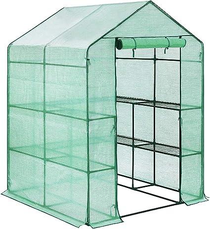 FOBUY - Invernadero de plástico con 6 estantes, Cubierta Reforzada ...