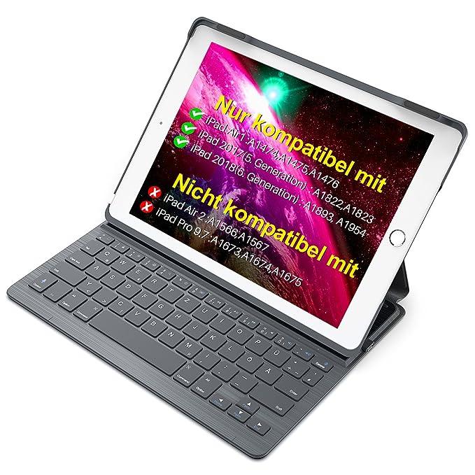 Inateck Ultra Slim Tastatur Hülle kompatibel mit 9.7