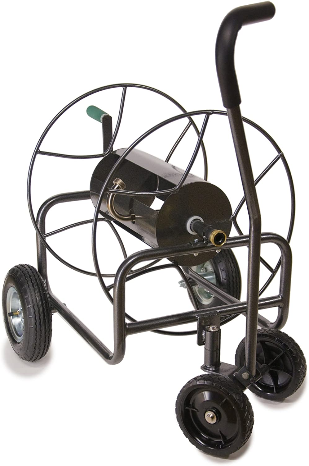 Yard Butler HT-4EZTURN Four-Wheeled Hose Reel Cart with Easy Turn Handle