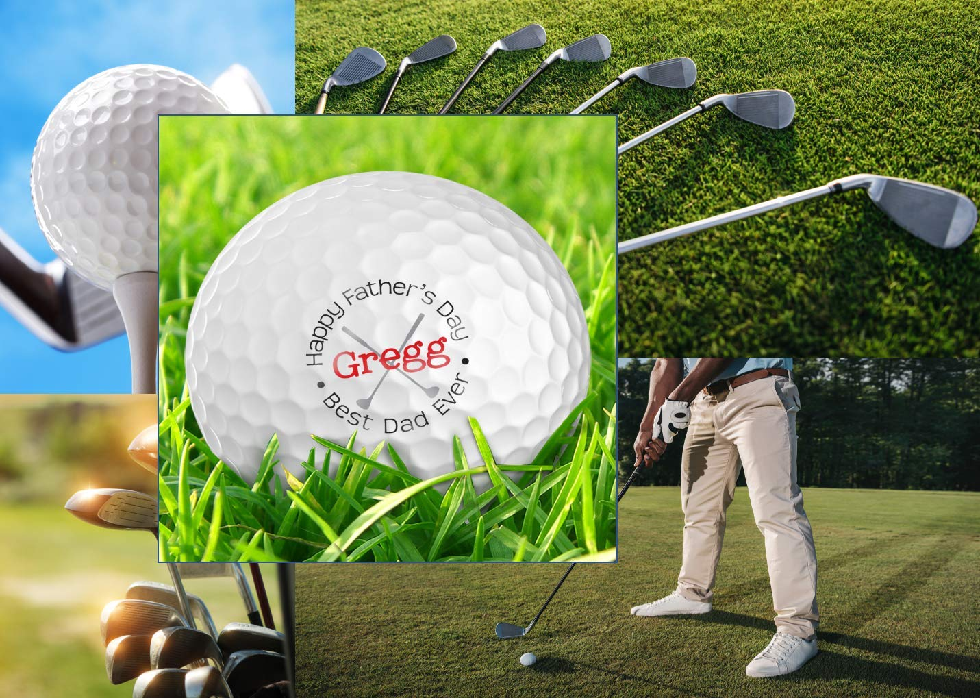 Infusion Father's Day Best Dad Ever Golf Balls - Personalize The Name (12 Balls)