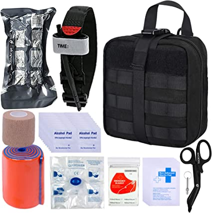 BUSIO Kit de Primeros Auxilios tácticos de Emergencia-MOLLE Admin ...