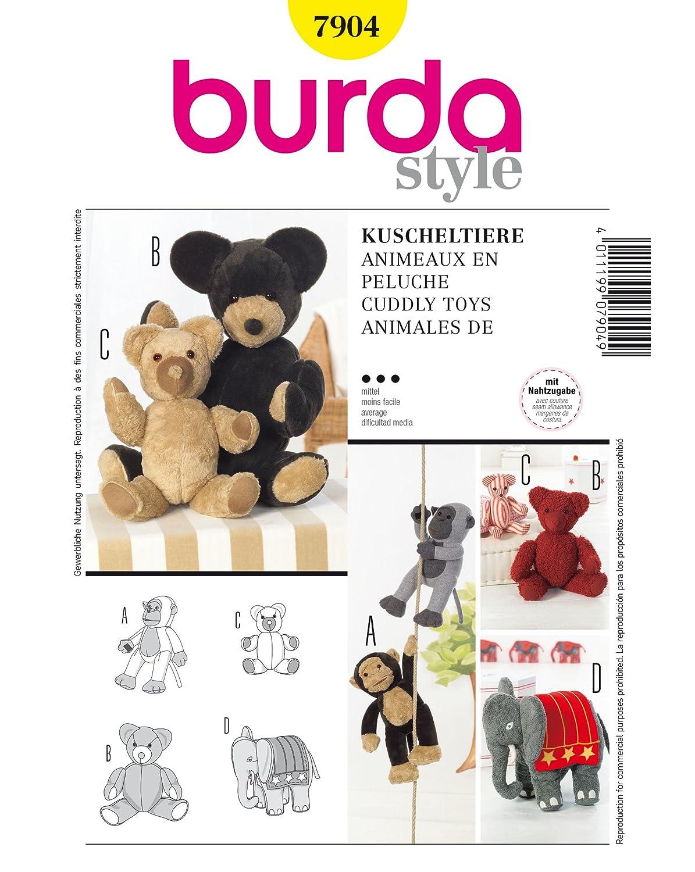 Burda Schnittmuster 7904 Kuscheltier: Amazon.de: Küche & Haushalt