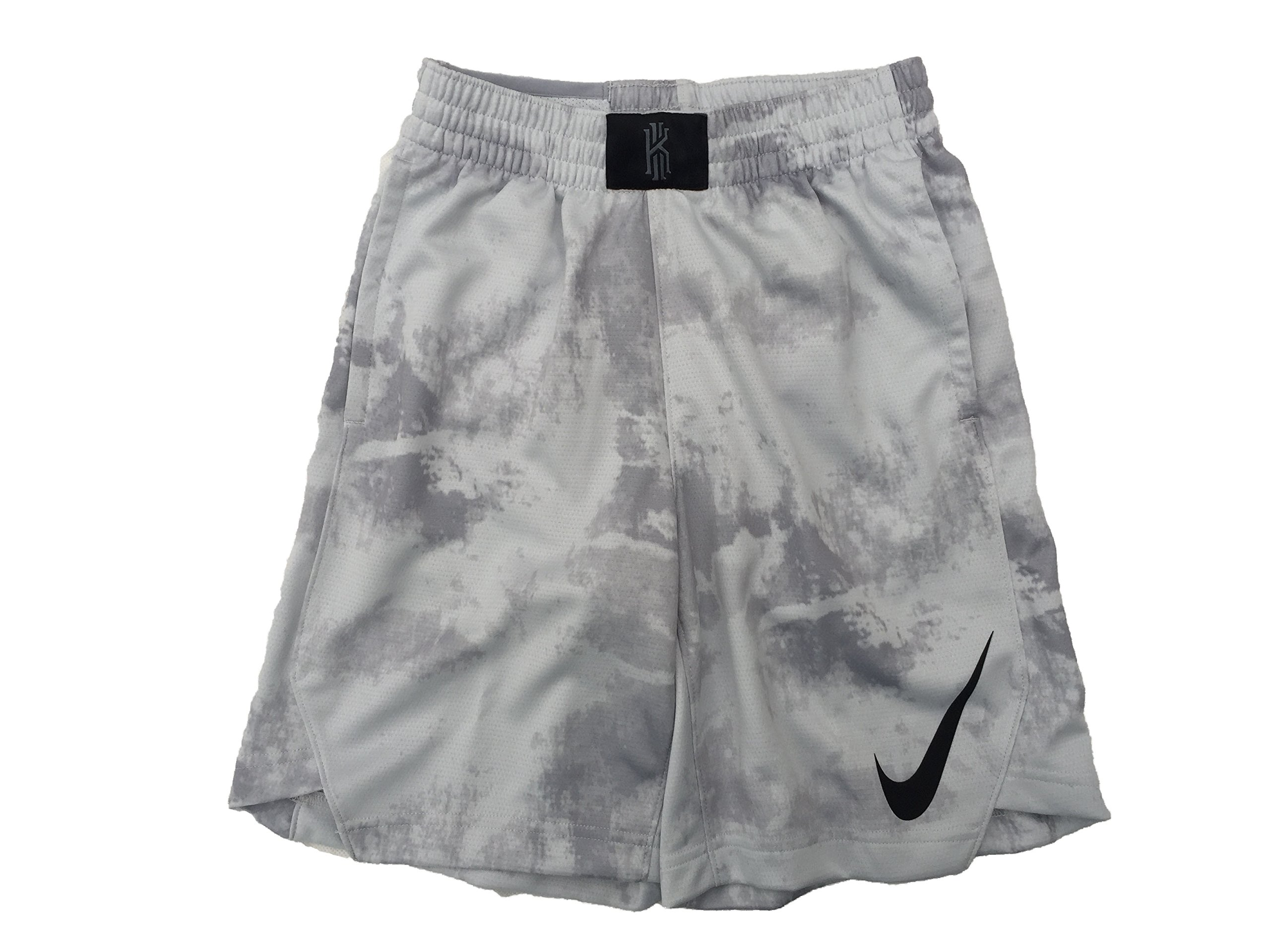Nike Boy`s Flex Kyrie Hyper Elite Shorts (Cool Grey(856069-043)/Black, Small)
