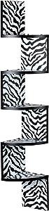 Danya B Zebra Large Corner Wall Shelf