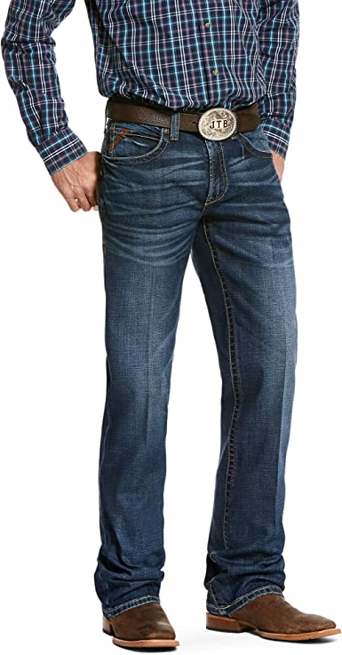 Ariat Men S M2 Relaxed Stretch Patterson Boot Cut Jean Amazon Es Ropa Y Accesorios