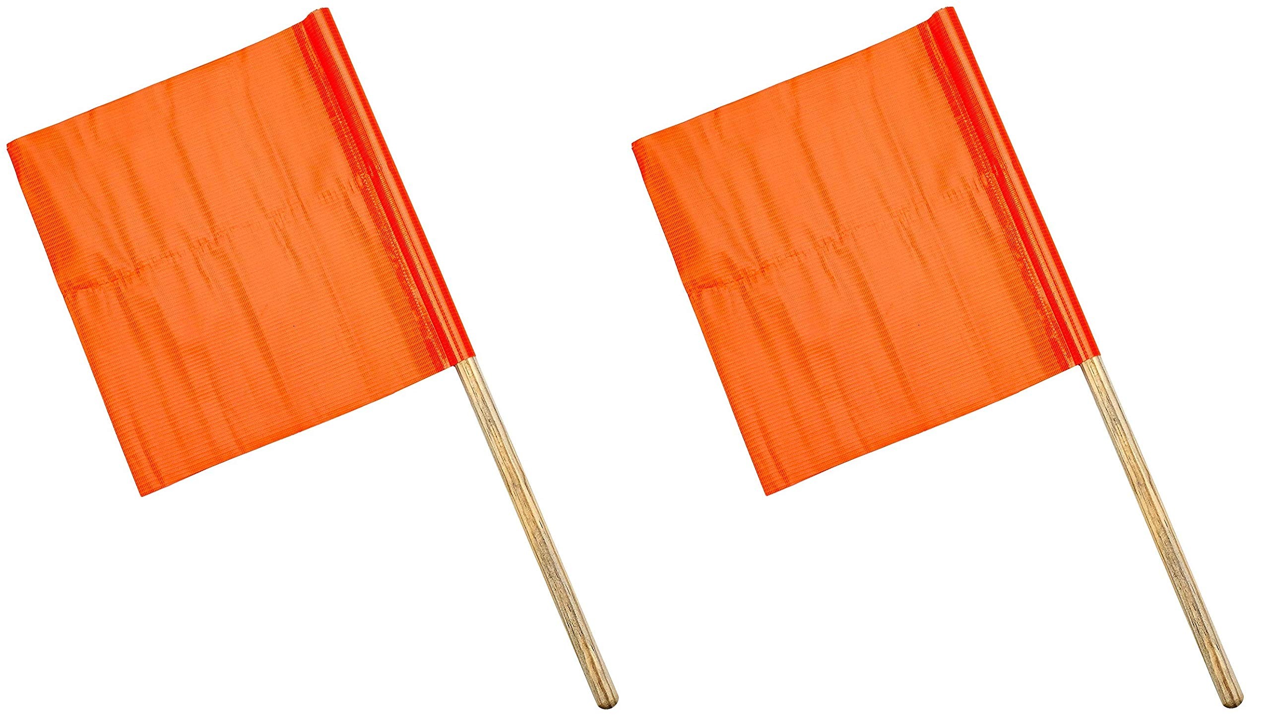 Mutual Industries 14994-27-18 Standard Vinyl Highway Safety Traffic Warning Flag, 18'' x 18'' x 27'' (2 X Pack of 10)