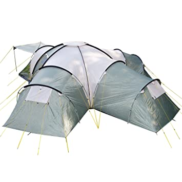 Skandika Korsika Dome Tent with 3 Big Sleeping Cabins 210 cm Peak Height and 5000  sc 1 st  Amazon UK : 10 man dome tent - memphite.com