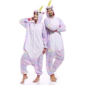 Adult Unicorn Onesies for Women Aniaml Pajamas Plus One Piece Cosplay  Halloween Costume for Women Men d8c234151