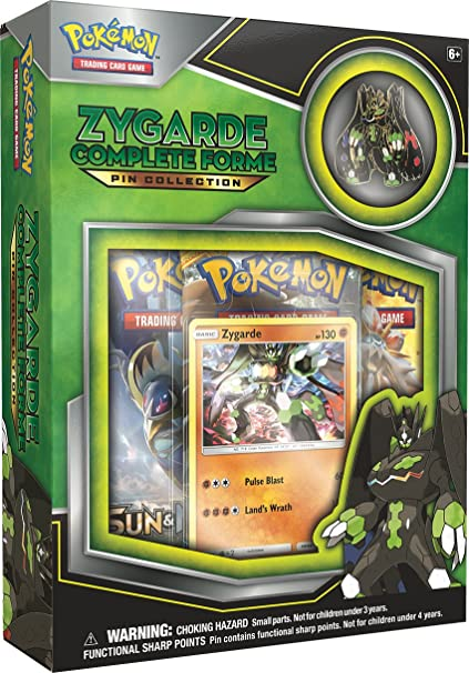 ed990a33f Amazon.com: Pokemon TCG: Zygarde Complete Forme Pin Collection: Toys & Games
