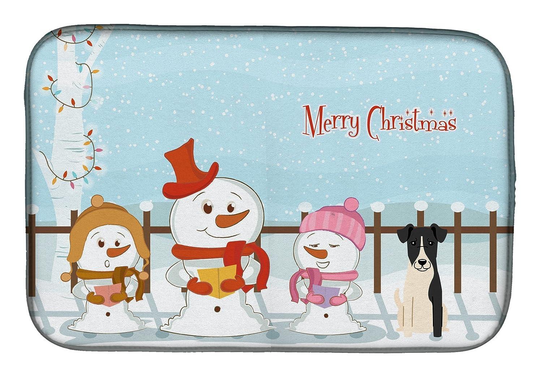 Caroline 's Treasures bb2429ddm Merry Christmas Carolersスムーズフォックステリアディッシュ乾燥マット、14