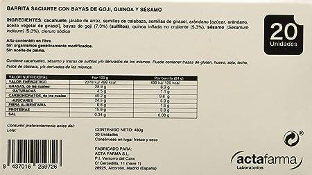 Obegrass Barrita Saciante, Quínoa, Sésamo y Bayas de Goji ...