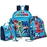 PJ Masks Backpack and Lunch Bag 5 Piece Set