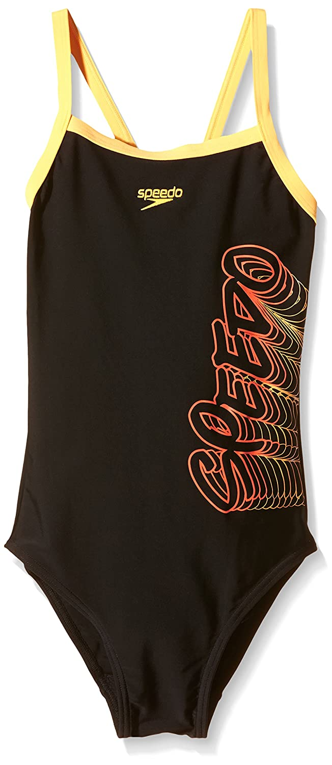 Speedo Girls Placement Thin Strap Muscle Back Print 42