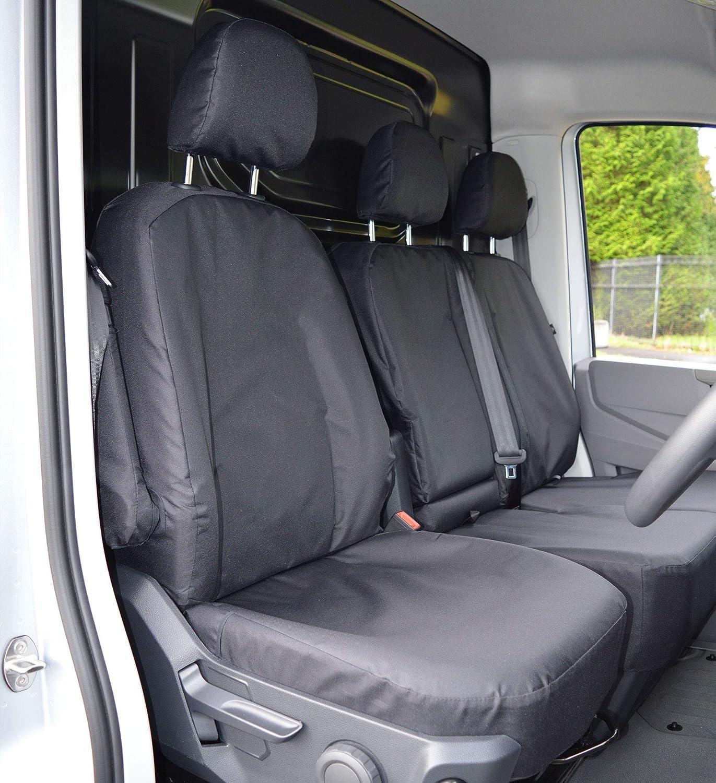 GREY CITROEN 2017 NEW Van Seat Covers Protectors 2+1 100/% WATERPROOF HEAVYDUTY