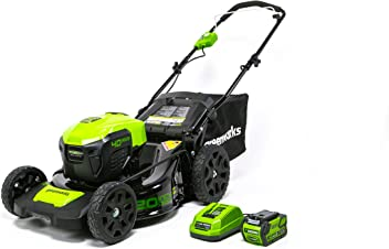 Greenworks 20-Inch 40V 3-in-1 Cordless Lawn Mower with Smart Cut