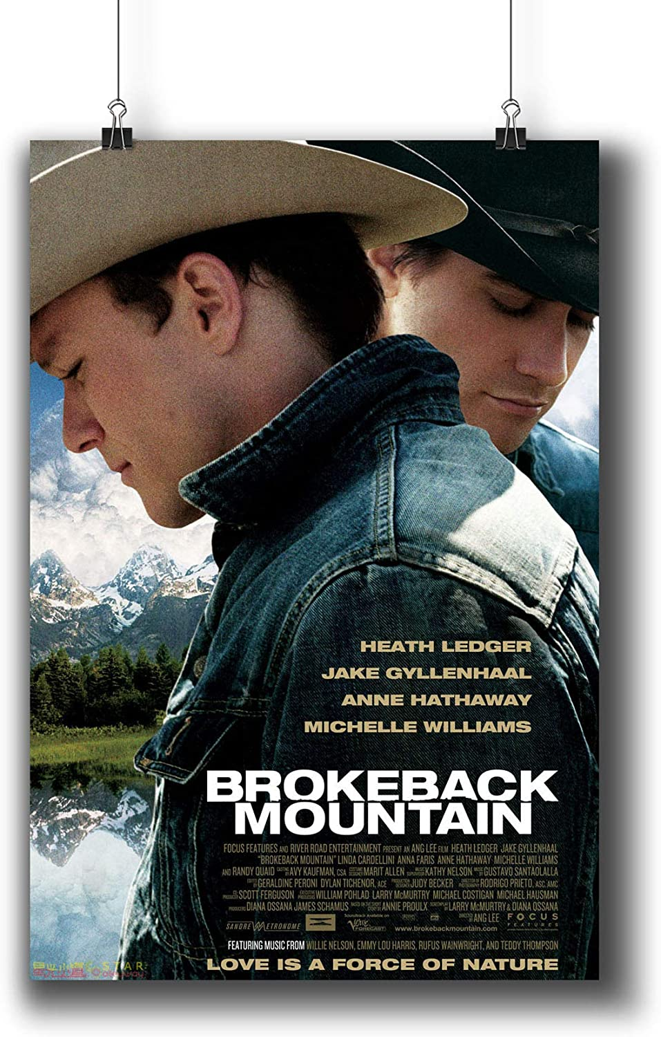 Amazon Com Brokeback Mountain 2005 Movie Poster Small Prints 690 001 Wall Art Decor For Dorm Bedroom Living Room A3 11x17inch 29x42cm Posters Prints