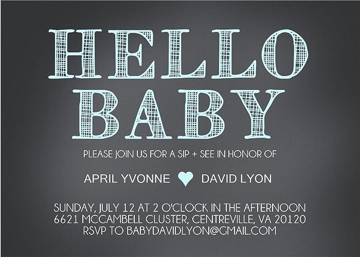 amazon com baby boy sip see invitations handmade
