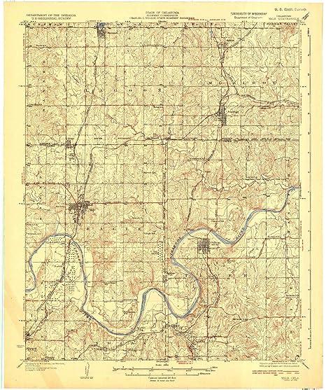 Amazon.com: Yale OK topo map, 1:62500 Scale, 15 X 15 Minute ...