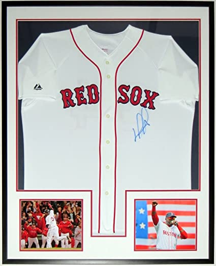 0f5259a6fc1 David Ortiz Signed Authentic Majestic L Red Sox Jersey FANATICS MLB COA  Authenticated - Custom Framed