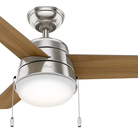 Hunter Fan 36 inch Ceiling Fan in Brushed Nickel with LED Light Kit Renewed