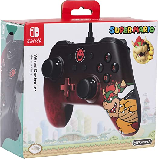 Mando con cable PowerA para Nintendo Switch Bowser: Amazon.es ...