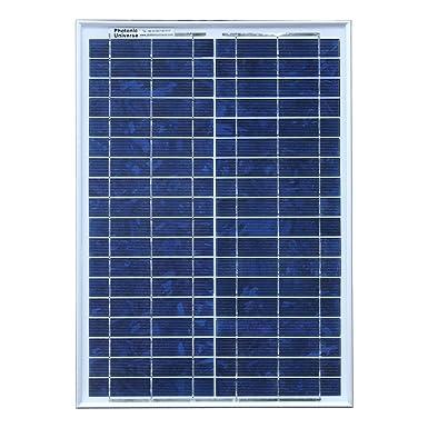 20 W 12 V Photonic Universe lote de panel solar con 5 A ...