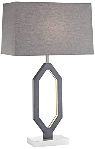 Admirable Desmond Charcoal Gray Table Lamp With Led Night Light Download Free Architecture Designs Pushbritishbridgeorg