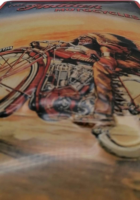 Indian Motorcycles Motocicleta taller Retro Chapa Cartel Schwalbe Mokick Peque/ño Roller Publicidad Reklame-Marke-Schild-Magnet-Metallschild-Werbeschild-Wandschild