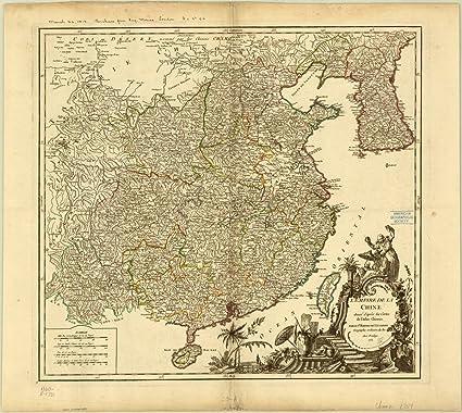 Carte Chine Antique.Amazon Com Historic Map China 1751 L Empire De La Chine