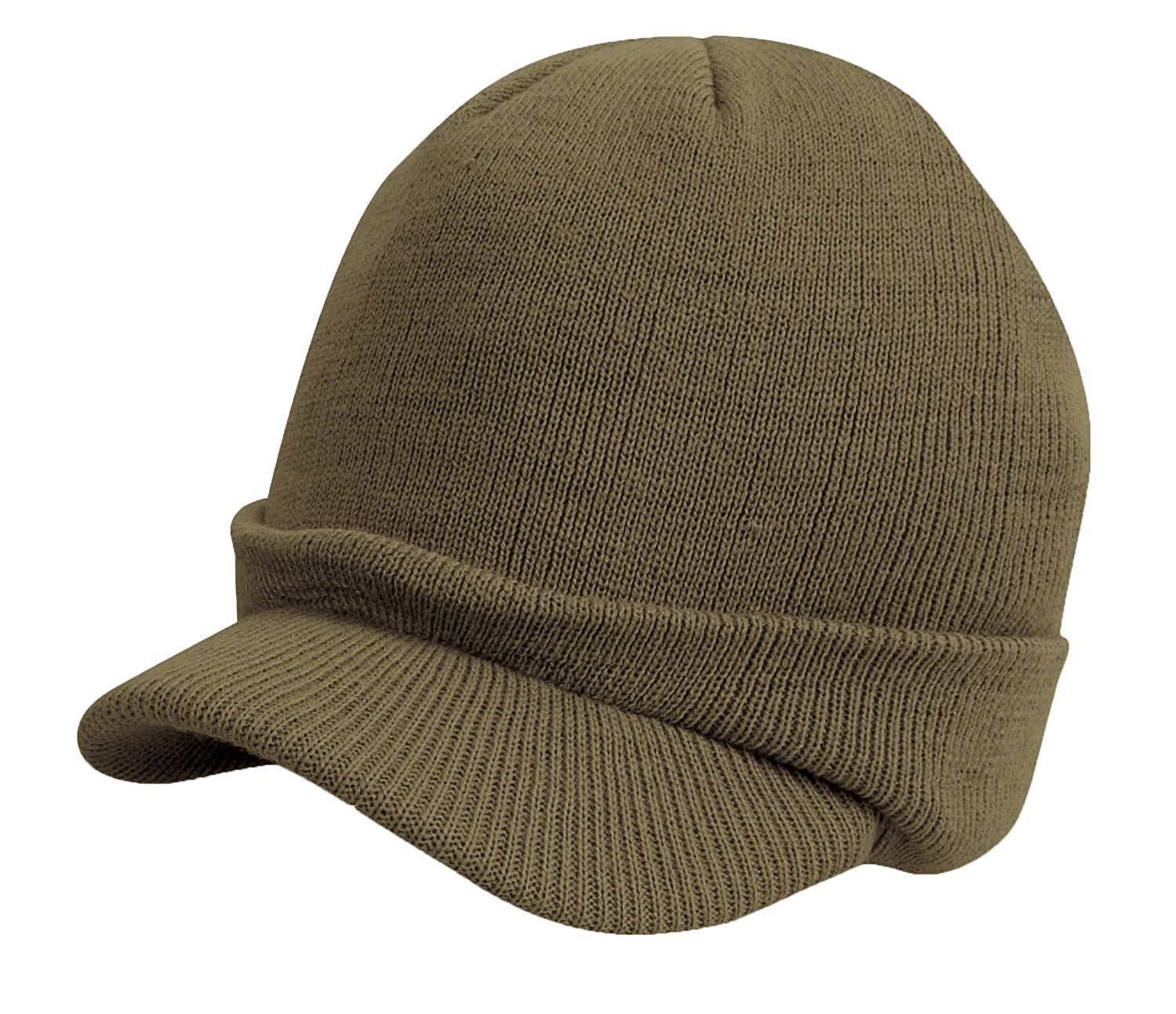Youth Peaked Beanie Hat Winter Army Cadet Wooly Cap