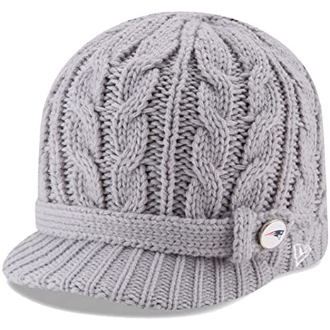 reputable site d48ad a45dd Image Unavailable. Image not available for. Color  New England Patriots New  Era Women s Button Blast Knit Beanie Gray