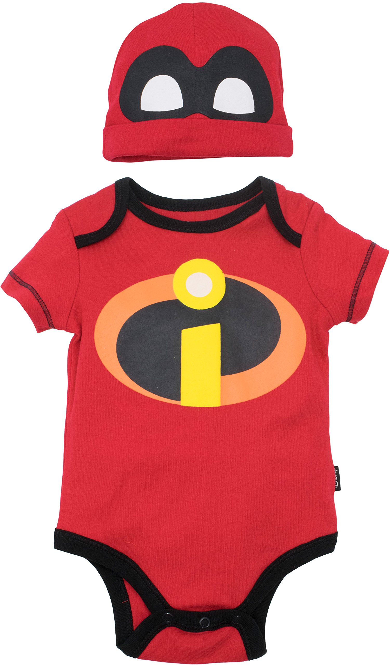 Disney Pixar The Incredibles Baby Costume Bodysuit and Hat Red (3-6 Months)