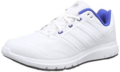 adidas Men's Duramo Trainer Leather Running Shoe White Size: 8 UK