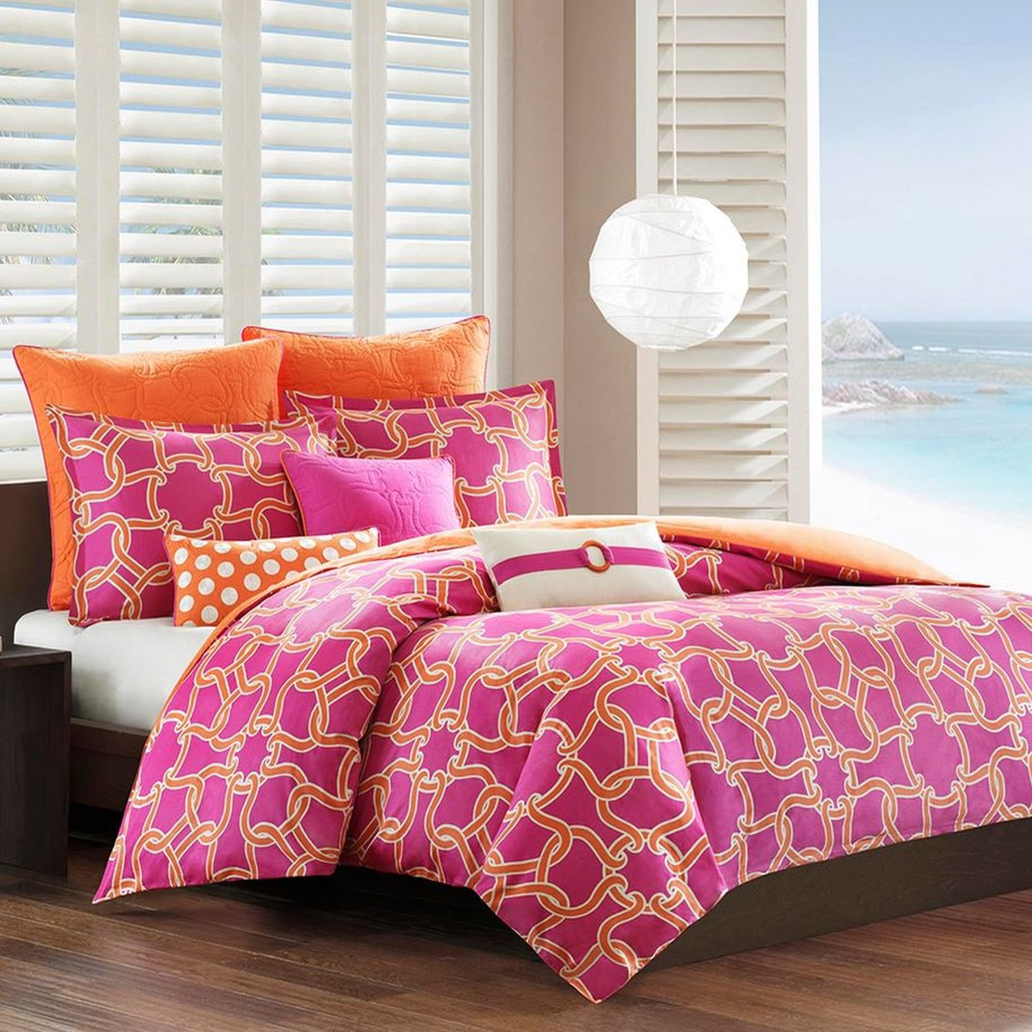 a232b932764 Echo Catalina Duvet Cover - Pink - King delicate. Adrien Boys Bedding  Reversible Quilt and Pillow Sham Set ...