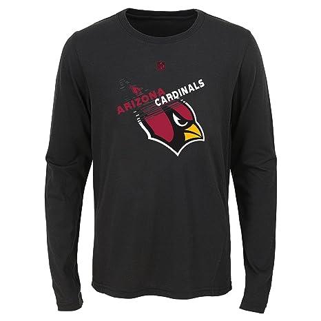 Outerstuff NFL Arizona Cardinals Youth Boys Flux Long Sleeve Ultra Tee  Black f63dba824