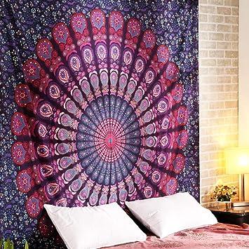 Pared Indian Mandala Wall Hanging hippie Tapestry Decoración de pared para habitación de los Niños Salón Dormitorio también como Yoga Alfombra Picnic Manta ...
