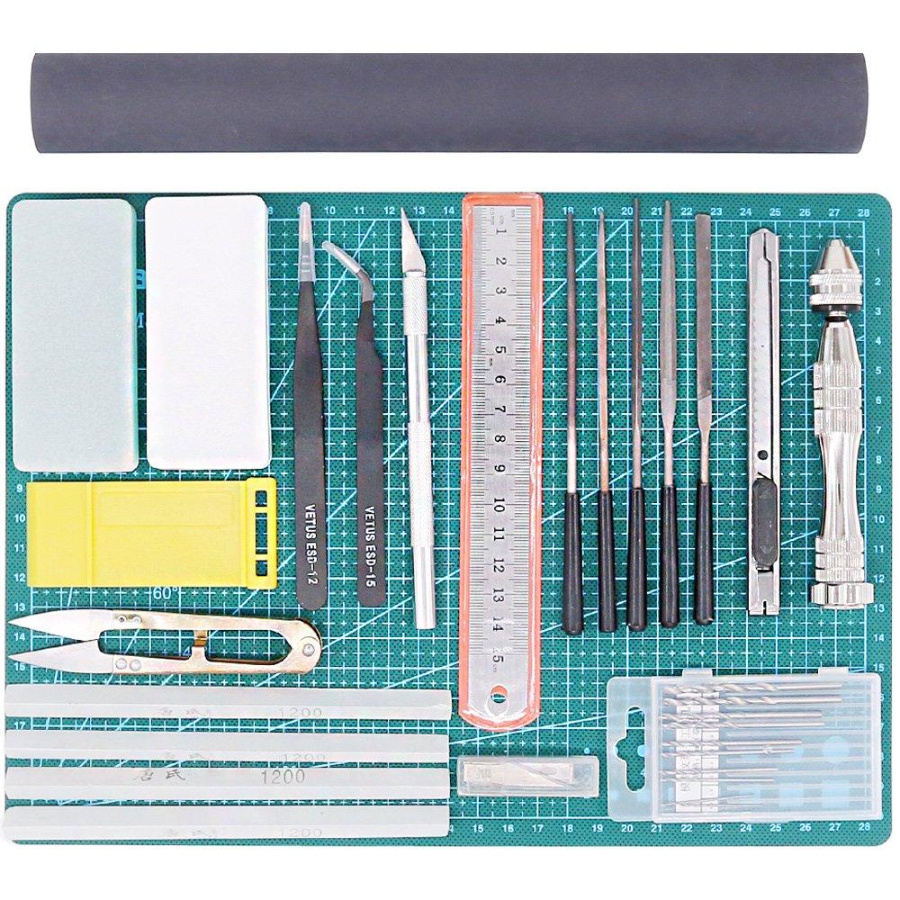 Rustark 16Pcs Gundam Modeler Basic Tools Craft Set Model Tool Kit For Hobby Model Assemble Building