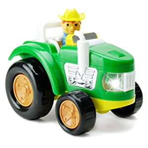 Boley Green Farm Tractor - Farm Toy for Kids, Children, Toddlers - Educational Lights and Sounds Toddler Vehicle - Perfect for Hours of Pretend Play! Great Stocking Stuffer!