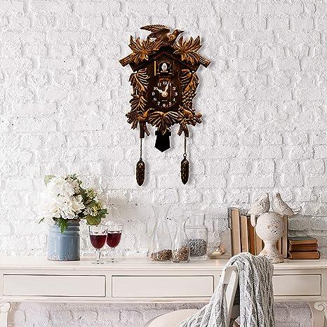 Reloj De Pared Clásico Con Diseño De Cuco Y Colgante Para Pájaros Decoración Del Hogar Regalo De Navidad Marrón Kitchen Dining